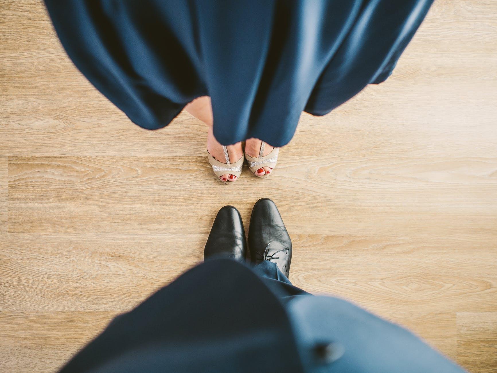 suit couple shoes clothes